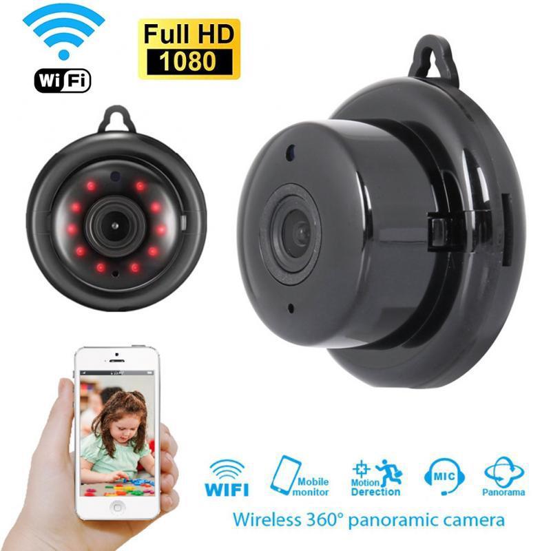1080P مصغرة الأمن الرئيسية اللاسلكي WIFI مايكرو كاميرا المراقبة الذكية الأشعة تحت الحمراء للرؤية الليلية كشف الحركة مراقبة الطفل V380