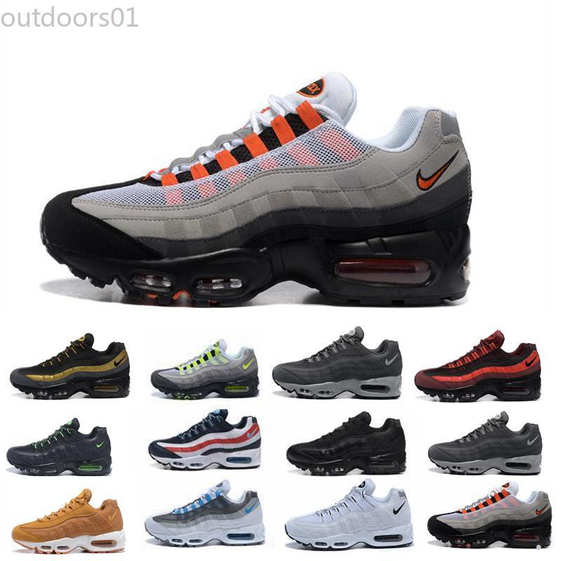 2019 Cuscino Mens Running Shoes autentici scarpe sportive per gli uomini Top Sneakers camminare scarpe outdoor Grey Man Training Maxes uk40-45 out01