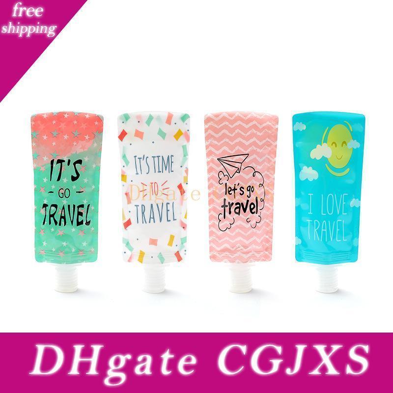 Bottiglia da 100 ml di viaggio Hand Sanitizer Cosmetic Bag di riempimento in PVC imballaggio del sacchetto portatile Borse Shampoo Packaging Bottiglie Cca12061 500pcs