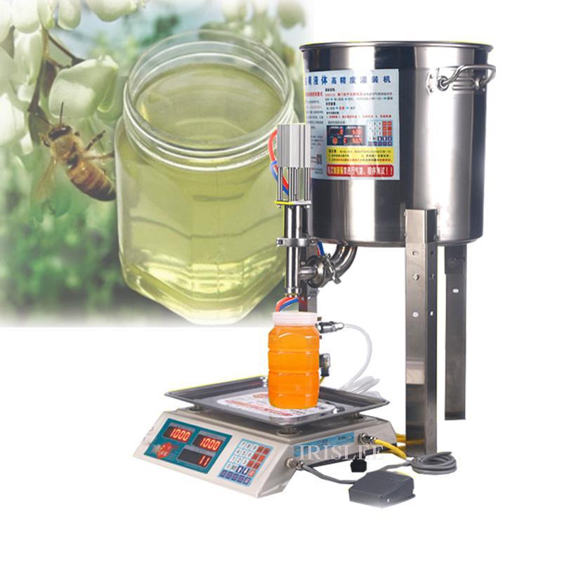 2020 lait automatique petite machine de remplissage de miel de miel yogourt sésame sésame huile manuel de sauce poids remplissage quantitative liquide mac
