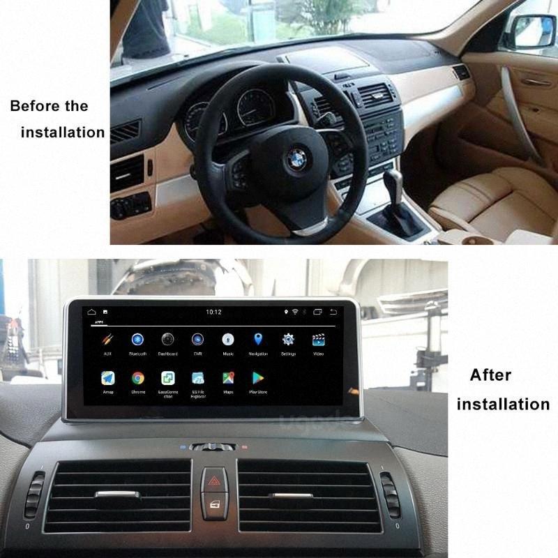 Coches reproductor multimedia GPS navegación para las series X3 E83 2004 2009 Procesador de radio con IDrive PX6 seis núcleos Android 9 coche de la pantalla Dvd Po ITIV #