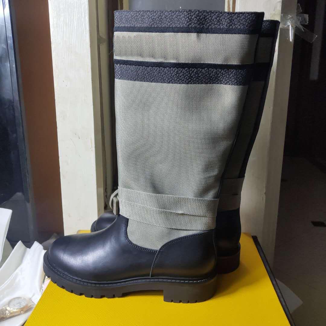 klassischen Luxus Designer Damen-Stiefel Mode Schuhe Herbst geprägter Leder mit hohen Absätzen BootsColor passende Stiefel neue Art und Weise europ Stil