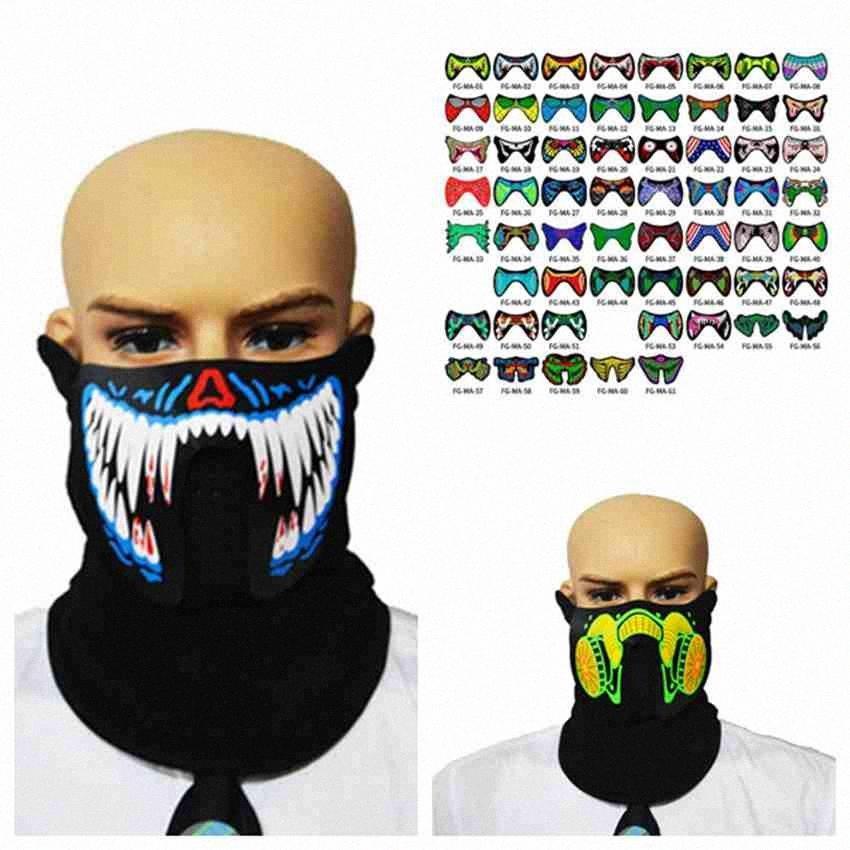 Cadılar Bayramı Maskeleri EL Binme Paten Partisi Ses Kontrol ZZA2455 Deniz Kargo XTnw # Parti Maskeler Maske Dancing For ile Flaş LED Müzik Maske