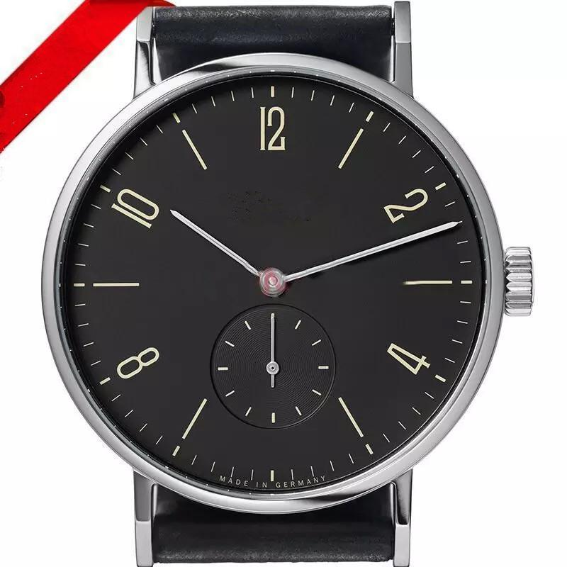 Fashionable and simple large dial digital scale design leather strap quartz movement men's casual watch