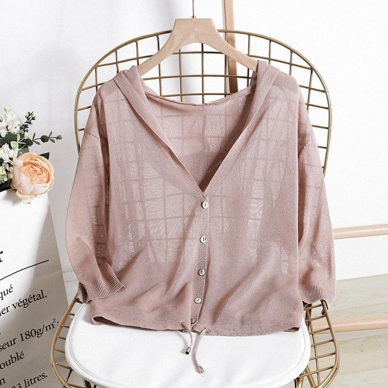 Spring Chic Knit Sweater Women Autumn Vintage Single-breasted Cotton and linen Cardigan Women Thin Knitted Harajuku Femme Top Y200106 SNf2#