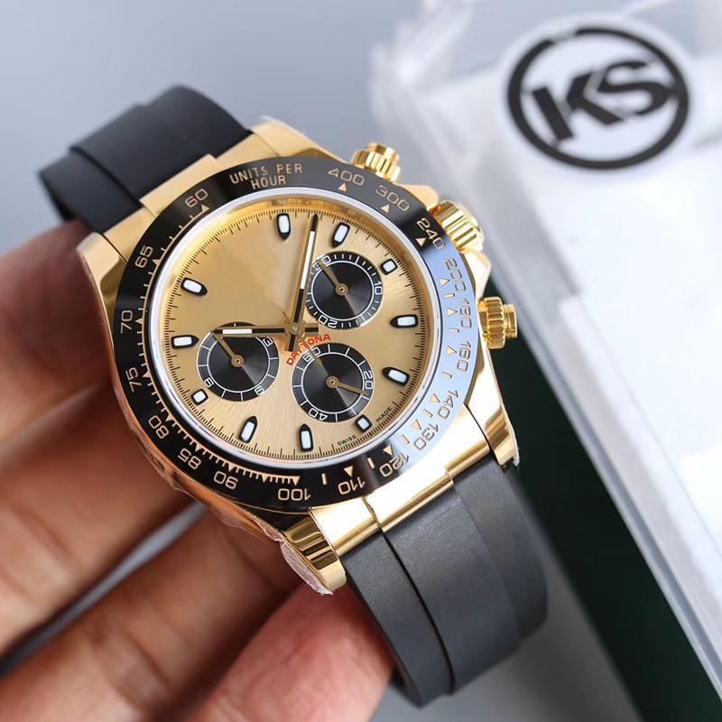 KS Montre pour homme Montre de luxe 40MM automatique 7750 hommes mouvement montres Reloj de Lujo relojes de Lujo para hombre Montres rolex