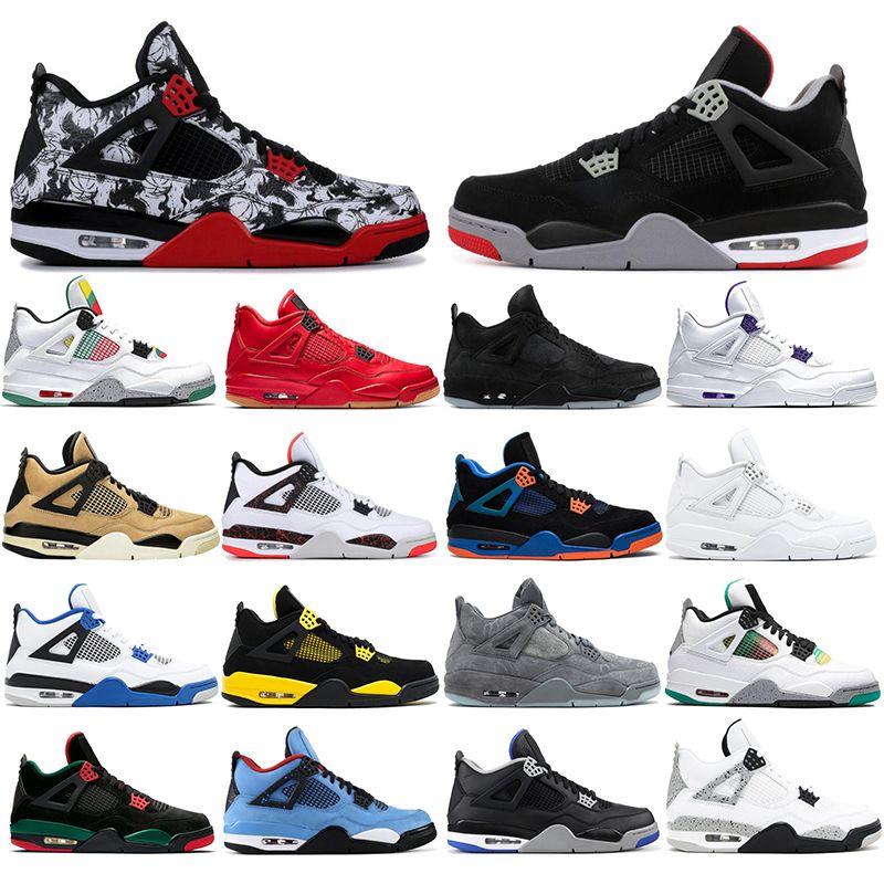 Nike AIR Jordan 4 uomini all'ingrosso scarpe di pallacanestro di modo tatuaggio BRED GATTO NERO Alternativa Mens Trainers Runner atletica leggera all'aperto Sport Sneakers