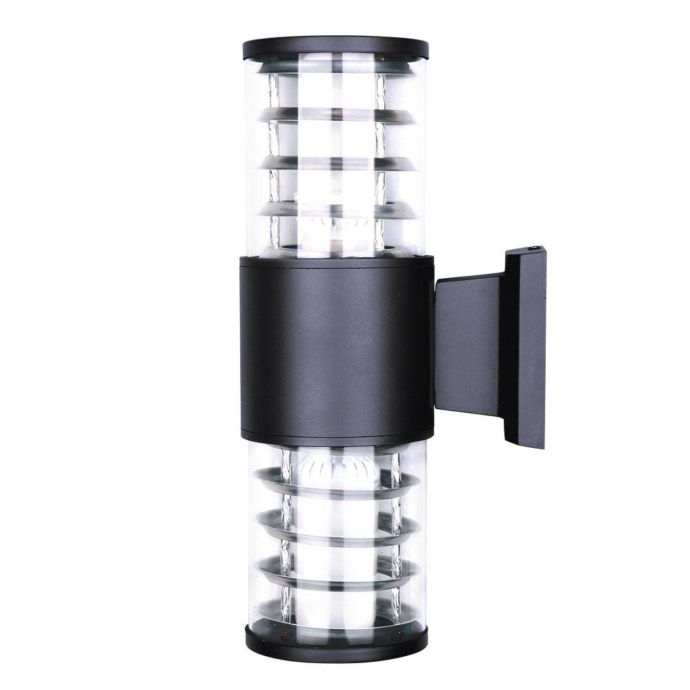 24 Вт Водонепроницаемая Внутреннее освещение Алюминиевые стекла абажур Светодиодные настенные светильники IP65 Настенный светильник Открытый E27 Оправа Настенные светильники