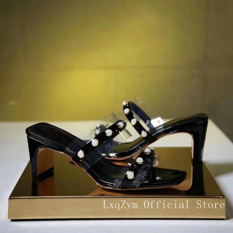 Профессиональный случайного квадратная голова наклонного высокого корня ремень алмаз благородная достойные сандалии дама каблуки носить летом 6.5cm