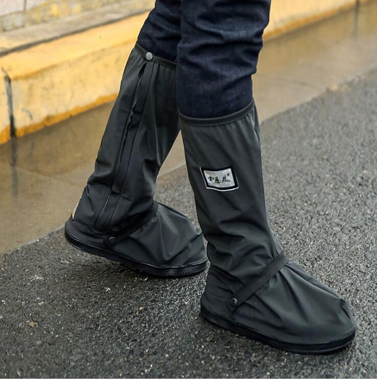 Женская и мужская обувь Обложки водонепроницаемый Нескользящие Мотоцикл дождь загрузки Галоши Wear Веллингтон толстые