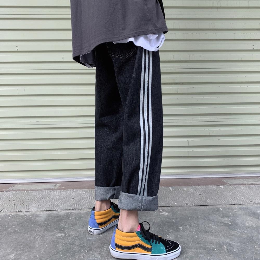INTFEDAY 2020 весной новый персонализированный соответствие цвета гетеросексуальных мужчин джинсы спортивные спортивные брюки все матч свободные джинсовые брюки