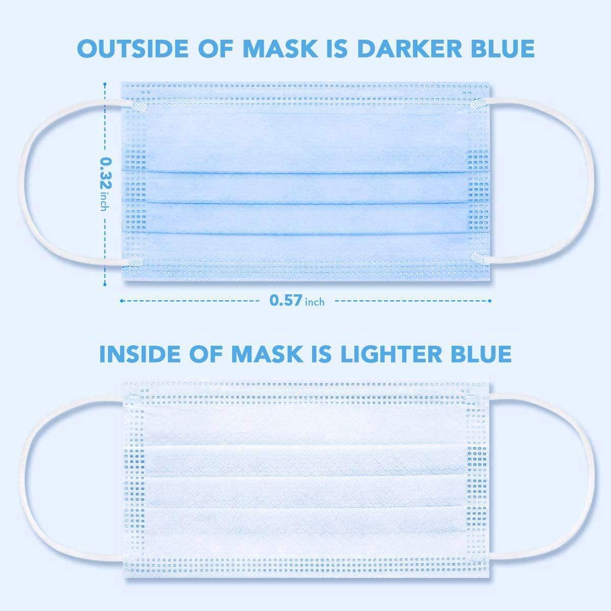 Sicherheitsmaske mit Futterschutz 3 Nanofaser JBHW elastisch 3 Filter und elastische Anti-Staub-Earloops-Schicht-Masken-Schichten Gesicht für Gesichtsdispo-Ukape