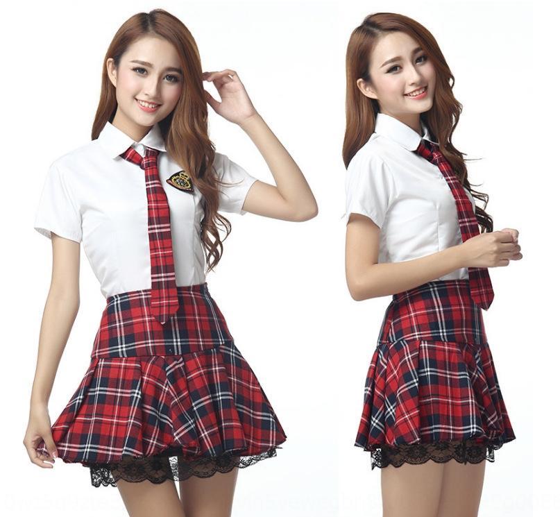 WuAww Новый британский студент носить короткие Корейский стиль женщин костюм градации лето класс костюм равномерная школа рукав матрос равномерное