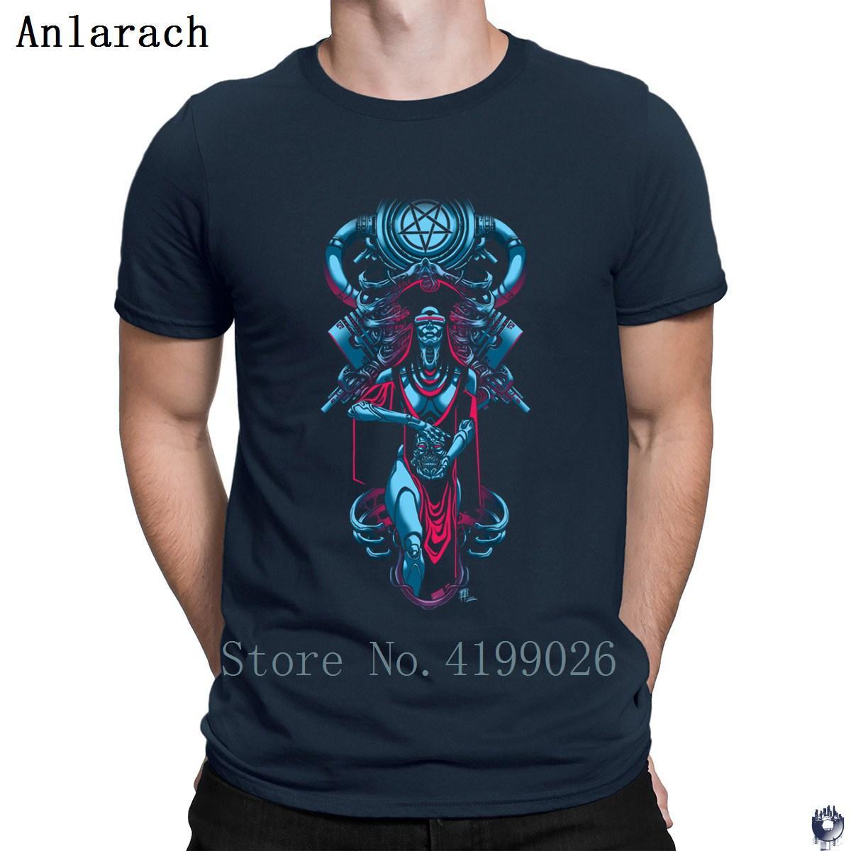 Die Wissenschaft des Teufels T-Shirt Weinlese-flippiges Kostüm Sonnenlicht Männer-T-Shirt T-Tops Humor Euro-Größe S-3XL erstellen