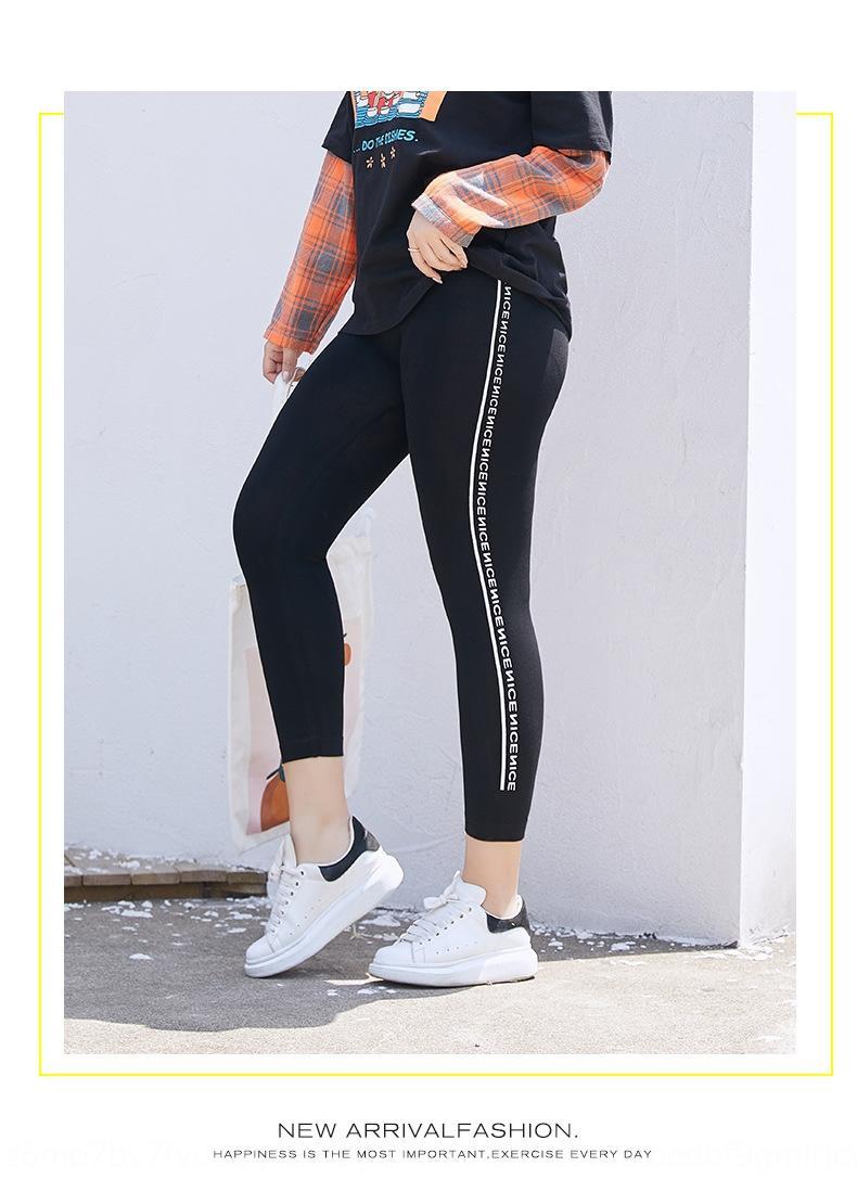Модальные обрезается поножи женской наружной худого 2020 новый избыточный вес плюс размер жира мм 200кг Плотные спортивные спортивные брюки брюки sLnsz