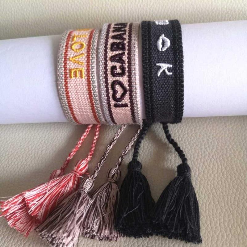Güzel Bahar Takı Charm dostluk bilezik doğal pamuk kumaş malzemeler ve basit madenlerden seti