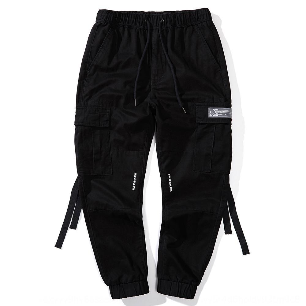 estate del cotone sottile grande tasca esterna di sport elastici sport all'aria aperta Uomo Casual pantaloni casual perdono tutti i match harem rhd8o