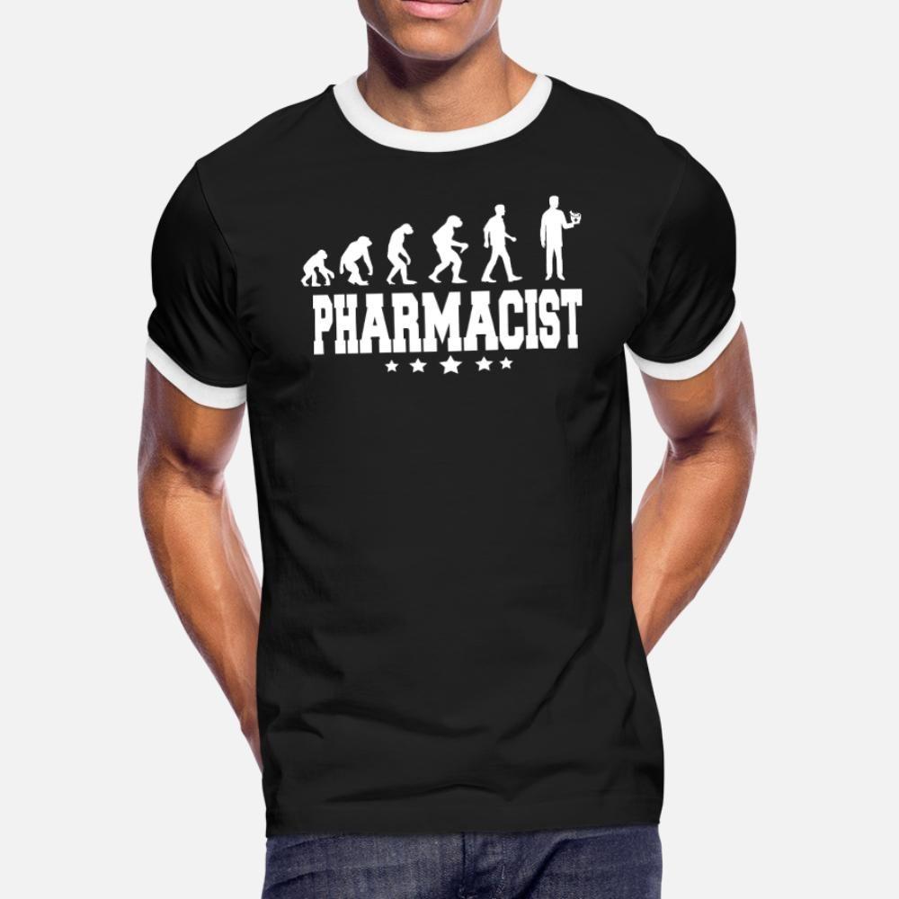 Evolución de los hombres de la camiseta del farmacéutico crear camiseta de cuello redondo camisa masculina Ocio lindo verano nuevo estilo