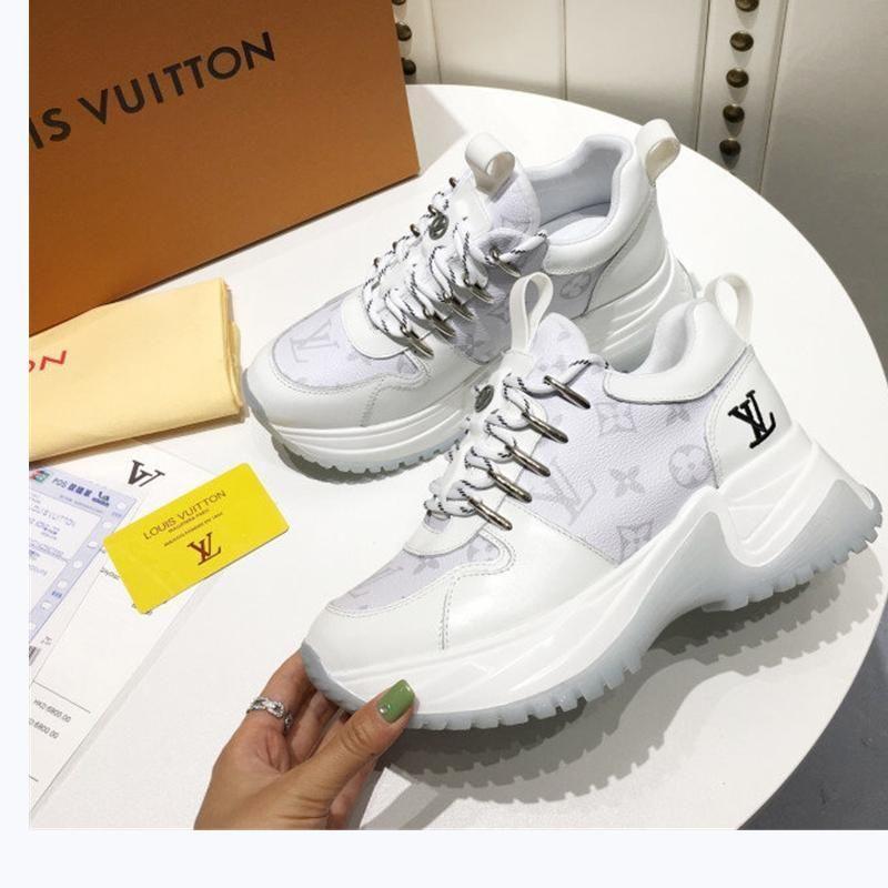 185 Yeni tasarımcı lüks kadın rahat moda ayakkabılar, orijinal kutusu ile kadınların açık rahat ayakkabılar, yüksek kaliteli malzemeler,