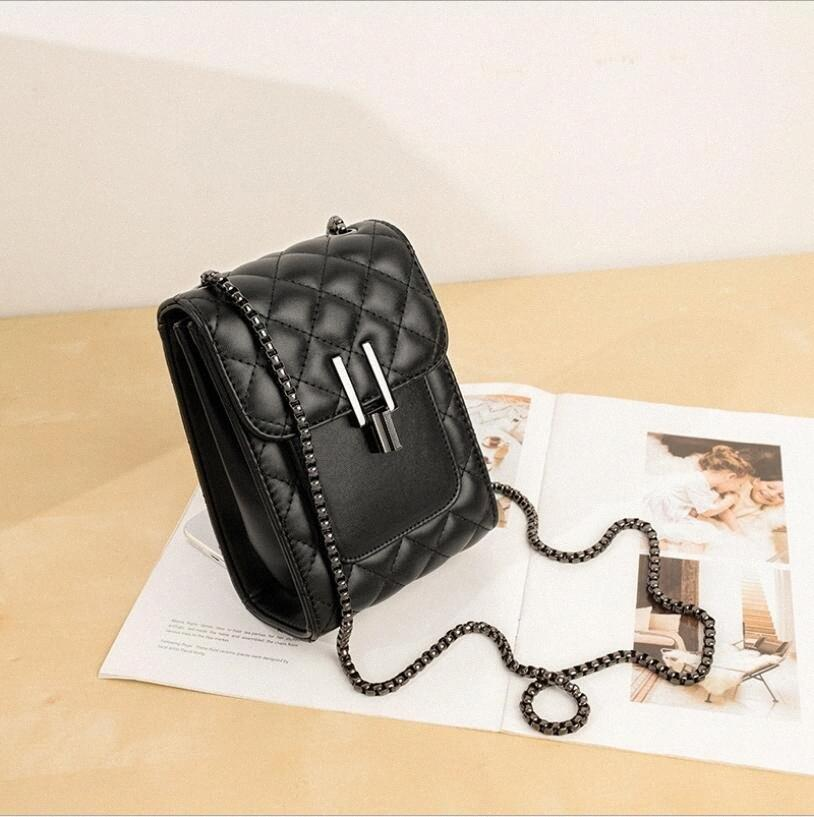 Мода Малый черный мешок новый стиль одного плеча Straddle Мобильный телефон сумка карман для женщин dnhd #