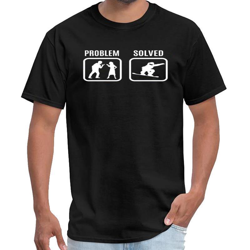 Impreso problema resuelto snowboard nieve regalo el logotipo de la camiseta de las mujeres camiseta titánica patrón de s-6xl