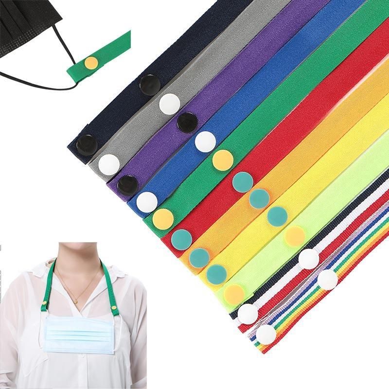Maske Anti-verlorene Seilausfahrung Seil hängenden Hals winddichte Seil Maske Multi-Color optional leicht auszuziehen Lanyard und trägt DHB1567