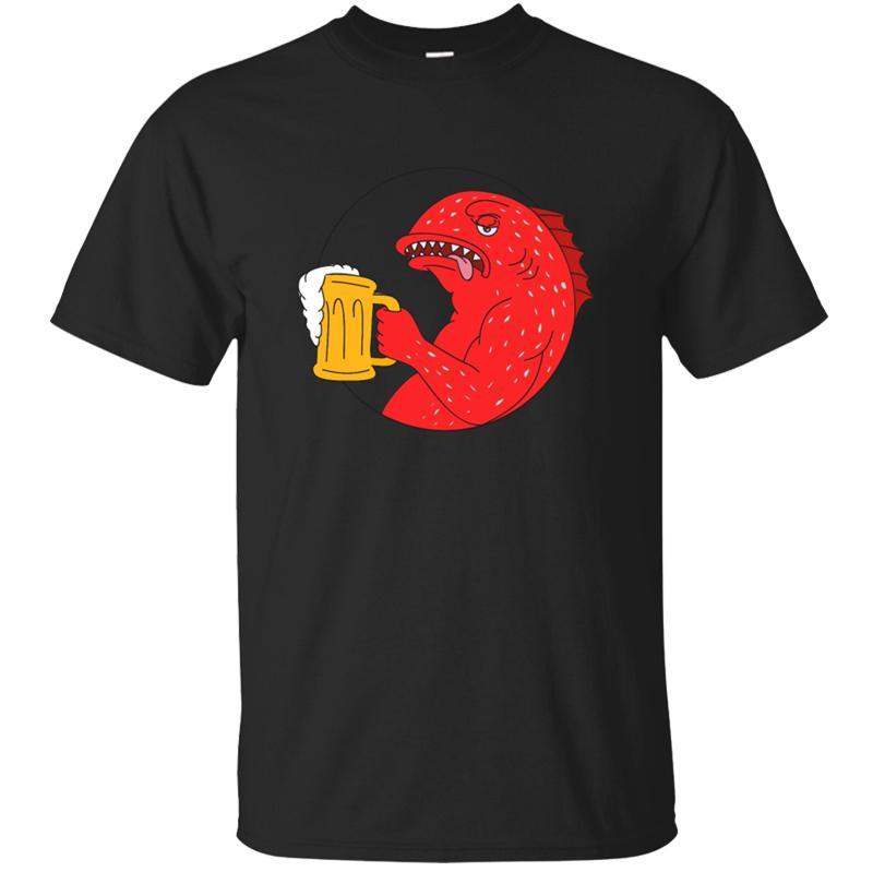 Individuell Comical Korallenforelle Bierkrug T-Shirt männlich weiblich 2020 Einzigartige Sommermänner T-Shirt O Ansatz Harajuku T top