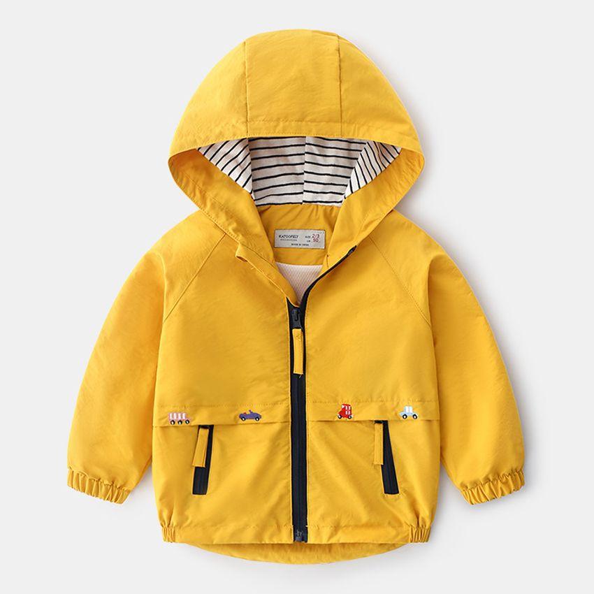 Ветровка для мальчика Детские куртки Детская одежда Осветительные Девушки с капюшоном Пальто Дети Младенец мультфильм Outerwears AP044