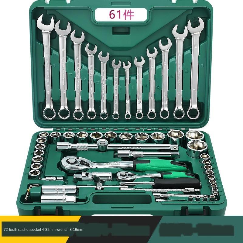 ferramentas de reparação de manutenção do carro casing combinação 6 tamanho da chave ferramenta ferramenta chave catraca manga voando definir je7gI