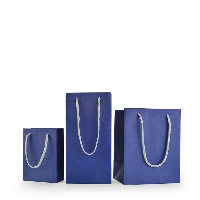مخصص رقة هدية أكياس حبل مقبض التسوق ورق تغليف حقيبة مع احباط شعار كيس ورقي المجوهرات