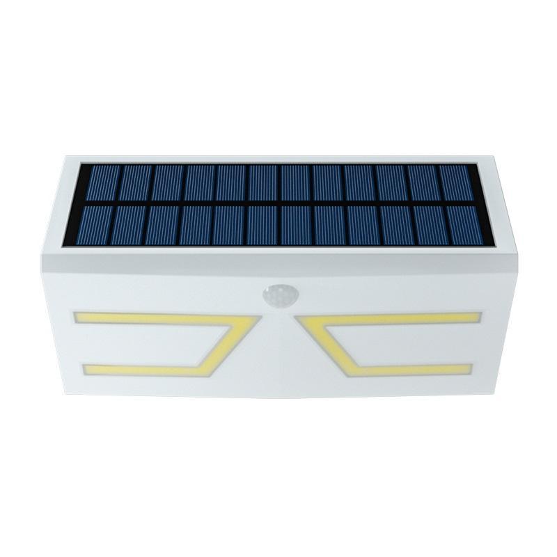 Esterna di colore bianco Luci solari Led COB luci del sensore senza fili PIR IP65 impermeabile Luce della parete del LED Luce giardino per l'illuminazione esterna