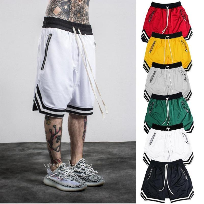 Basketball five-point shorts black red yellow green gray white anti-pilling breathable quick-drying loose fitness basketball fiv