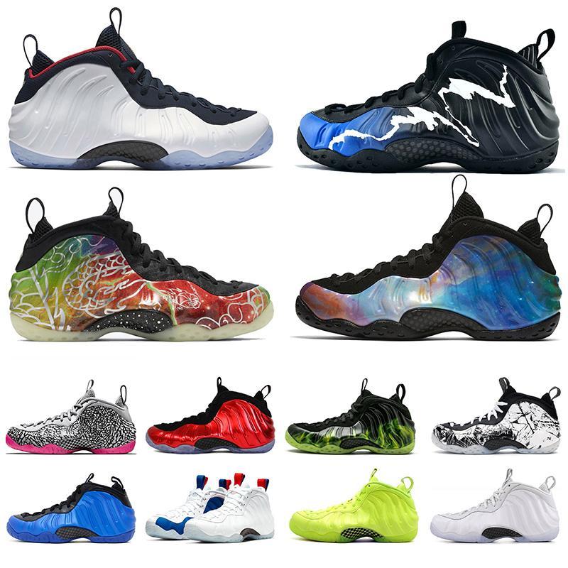 Пена posite One Pro Хардуэй обувь Beijing Black Aurora Volt Разрушенные Mens Баскетбол обувь кроссовки Спортивные тренажеры Размер США 13