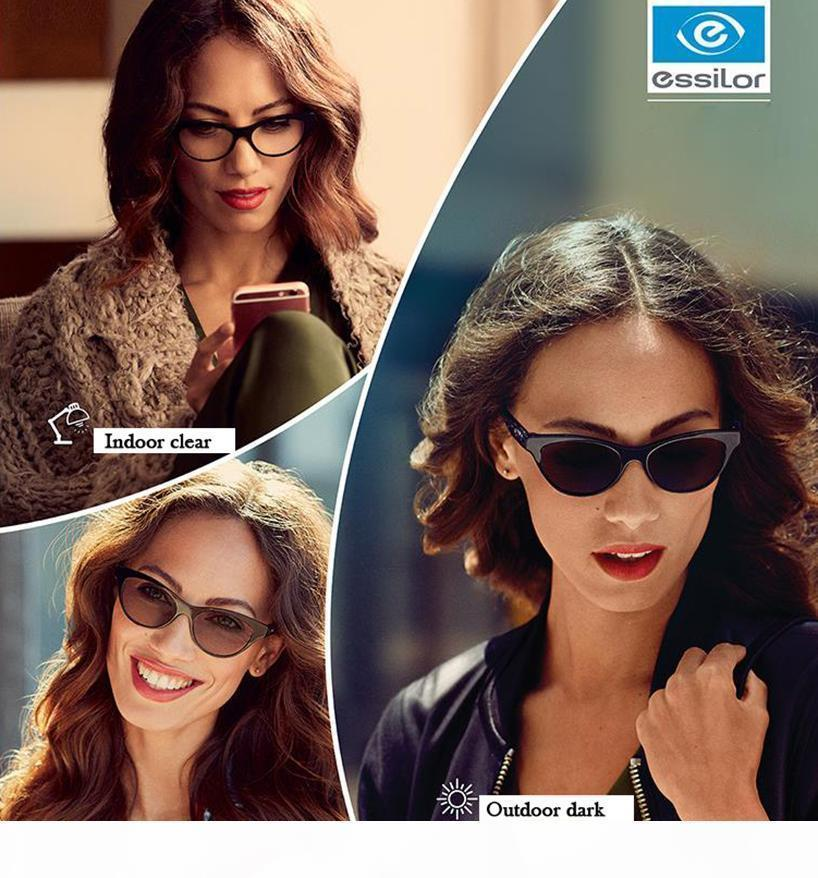 Essilor Crizal 1,67 174 Transitions grün grau Tee sonnen Auslöser Photochromic Linsen Optik Kurzsichtigkeit presbyopic 100% uv-blocking