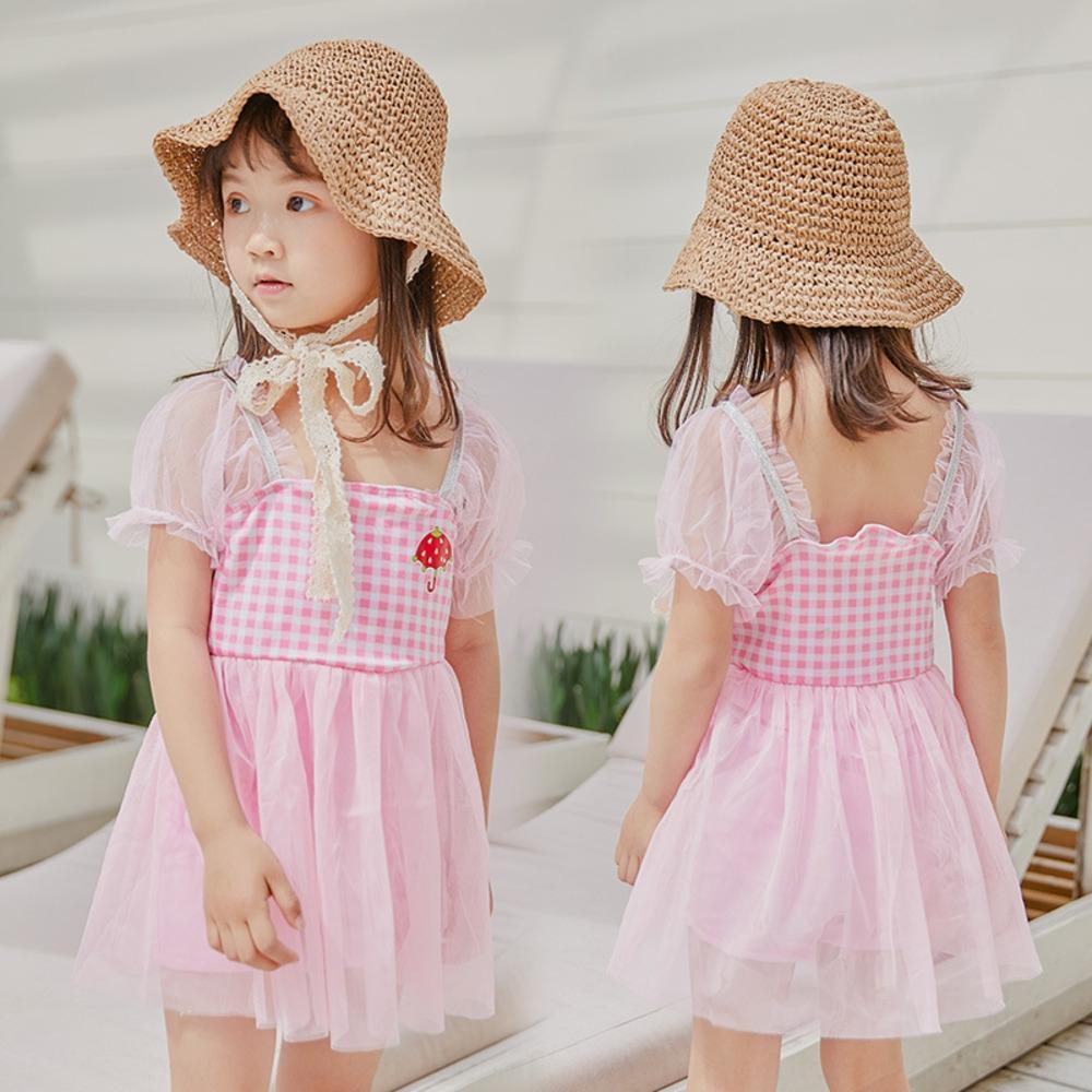 7oOuy Yaz yeni kız 3-5 yaş çocuk mayo NT86531 Sevimli Koreli prenses elbise prenses elbise Mayo tarzı zayıflama