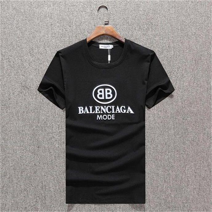 Yaz 2020 Yeni marka Tasarımcı Erkek Giyim Tasarımcısı tişört Üst düzey pamuk baskılı kısa kollu yuvarlak boyun tahtası tişört # QQ256