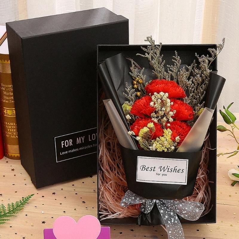 Día de San Valentín Día de la madre Día de la madre Rose Soap Bouquet Variedad de flores MEZCLA CARNACION DE CARNACION DE CARNACION DE BODA DE FIESTA DE BODA H0HQ #
