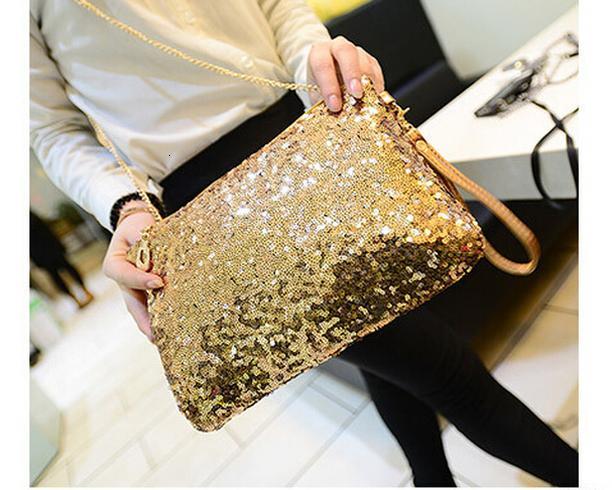 2020 borsa della borsa di New Hasp Dazzling scintillante Bling Paillettes partito serata borsa della frizione delle donne Portafoglio