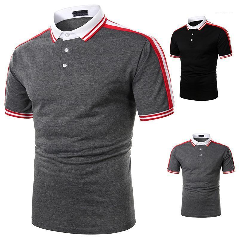 Polos Maschi Abbigliamento Uomo Designer Patchwork Polos Fashion Natural Color Manica Corta Polosa Casual Collare di svolta Casual