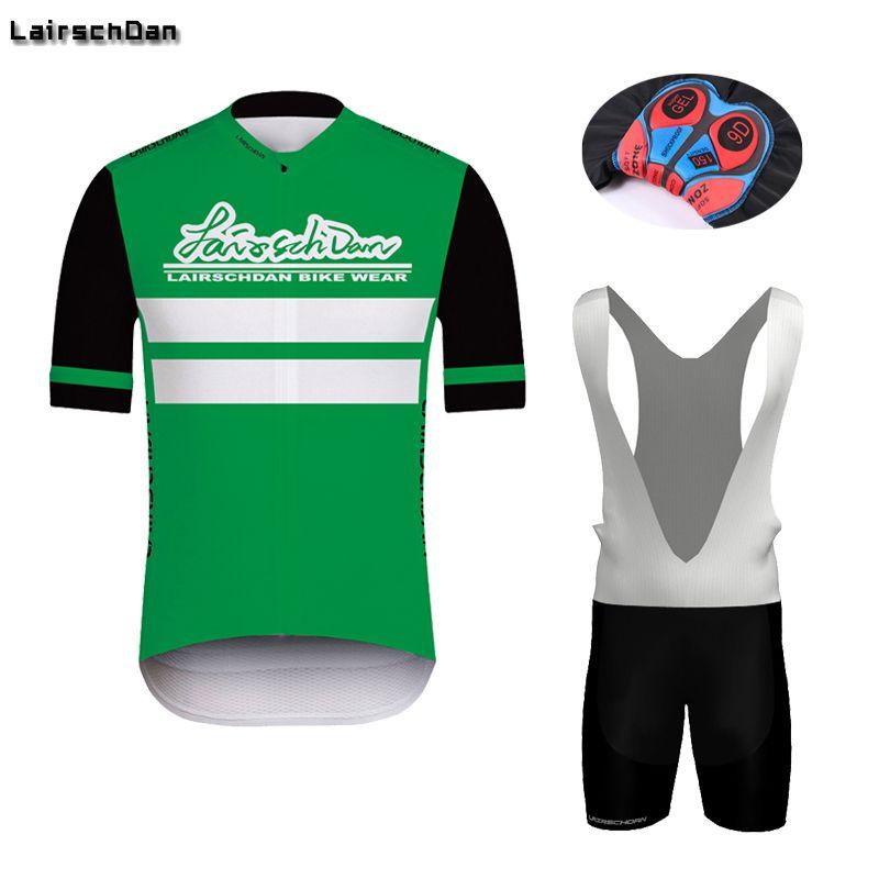 Гоночные наборы 2021 Лейсчдан Велоспорт Короткие рукава Джерси Спортивная одежда Мужчины Нагрудник Шорты Шорты Гель Доска для езды Дышащий велосипедный костюм