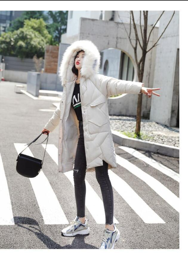 Veste d'hiver 2019 femmes modo chaud femmes bas algodón manteau femme col de fourrure capucha vtement d'extrieur glissire h CX200814