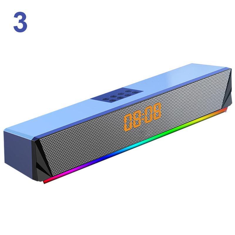 Tela da TV Smartphones computador desktop Para PC TF Card Game Suporte Console Bluetooth Sound Bar Speaker Deep Bass Início RGB LED