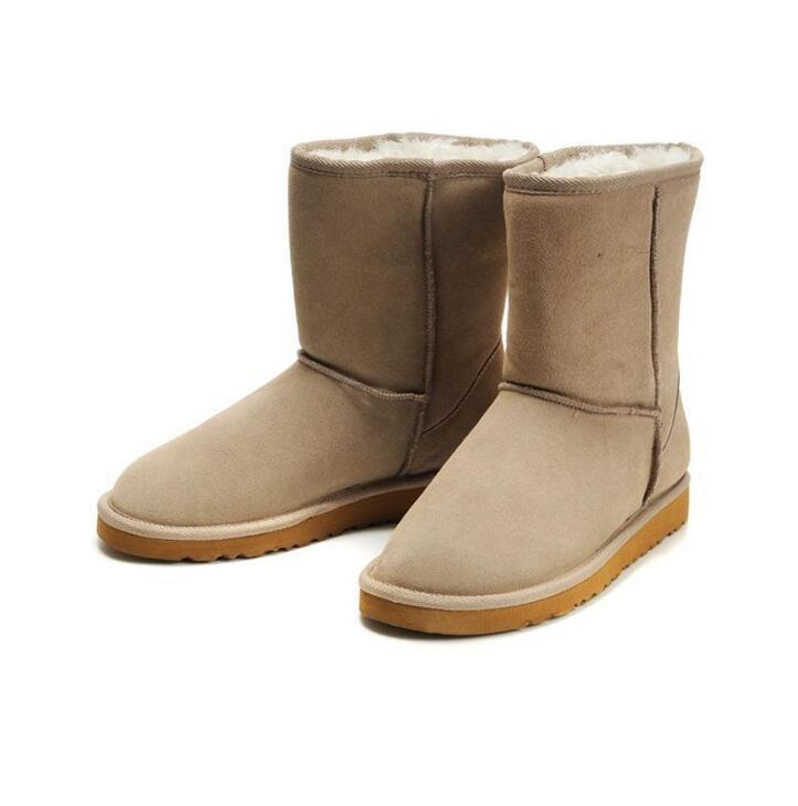 2020 Hochwertige neue Stiefel Frauen Australien Mädchen klassische Kastanie Mode Schneeschuhe Bowtie Knöchel Bogen kurze Pelzstiefel Winter Eur 36-41