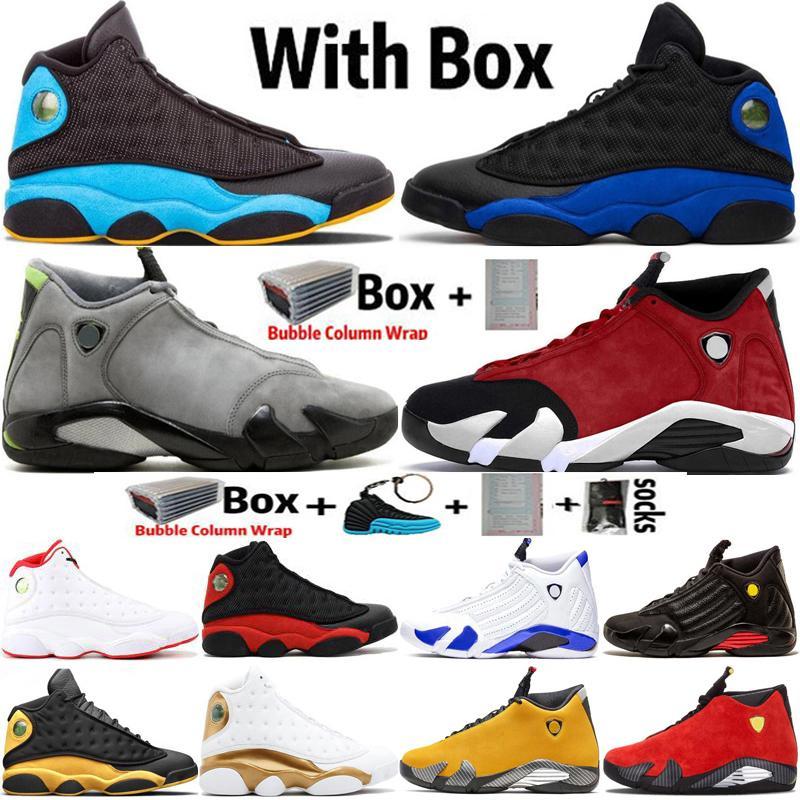 2020 Jumpman alta 13 Shoes 13s Black Cat Hiper Real Mens Basketball 14 14s DB Doernbecher Luz grafite Esportes Formadores Sneakers Tamanho 7-13