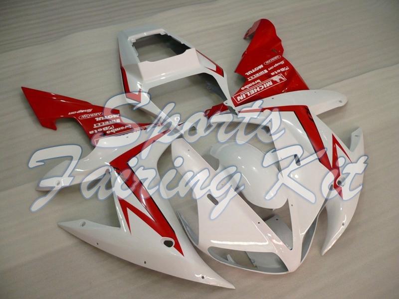 Le carenature in plastica per YZF R1 2002-2003 Bianco Rosso carenatura YZF R1 2002 carenature YZFR1 03
