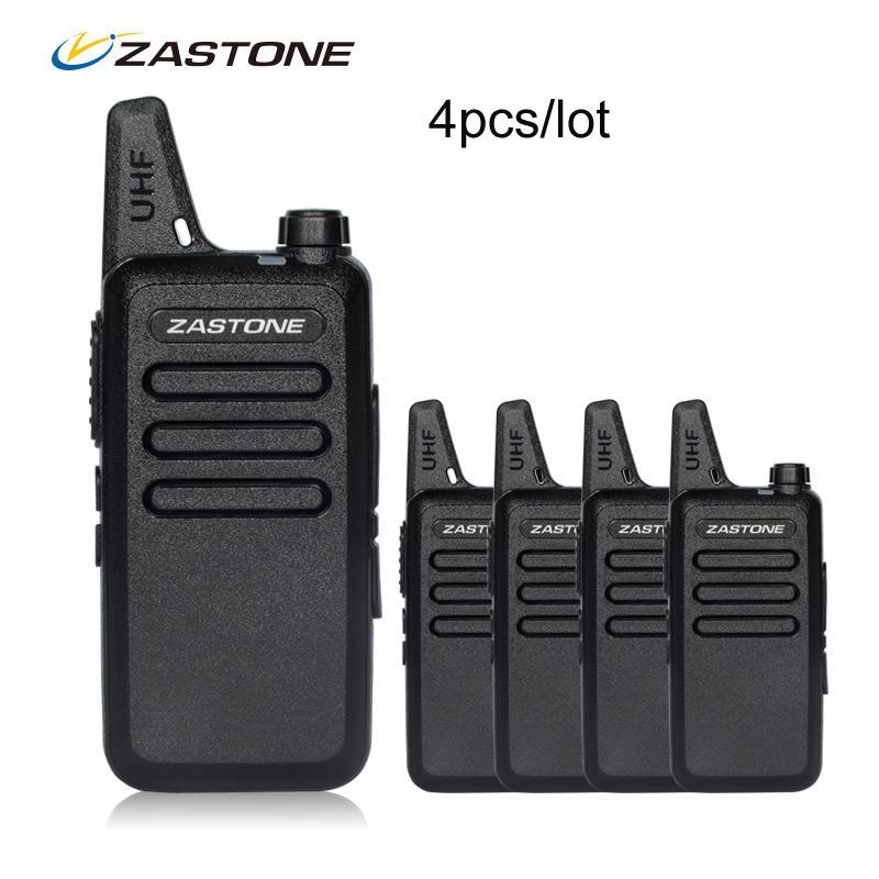 4 pçs / lote zastone x6 portátil walkie talkie uhf 400-470mhz walkie talkie crianças presunto rádio transceptor mini rádio portátil