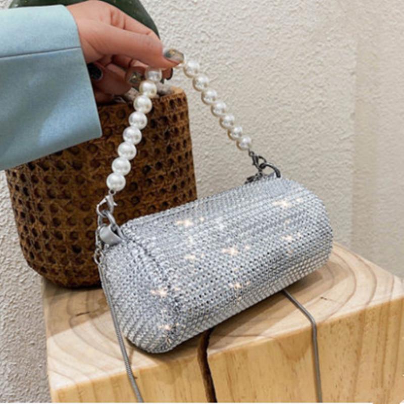 Bolsas de las mujeres bolsas de altas damas 2020 xpcuw Diamantes de calidad PU Bolsa de Crossbody Mini bolso de hombro Embrague Moda y bolsos Nueva noche RGRNE