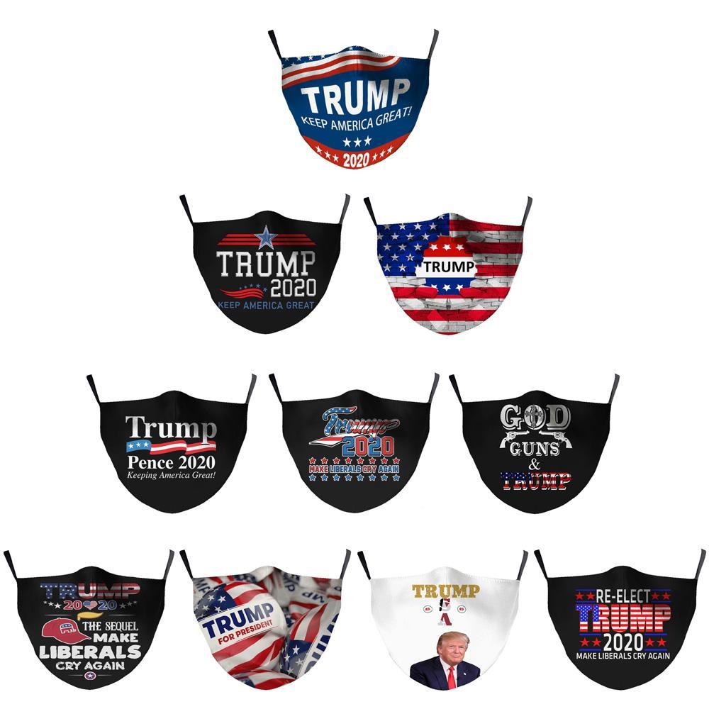 2020 Masques Élection Trump Mode VS Biden Cotton visage anti-poussière pollution Lavable respirante bouche couverture avec filtres