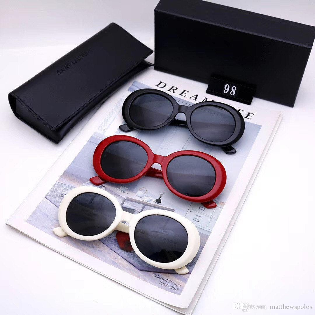 Lentes de sol del ojo de gato Para Sun de lujo para mujer para hombre Rojo Blanco Negro gafas de sol Lentes Gafas Hombres Mujeres gafas de moda populares 55811