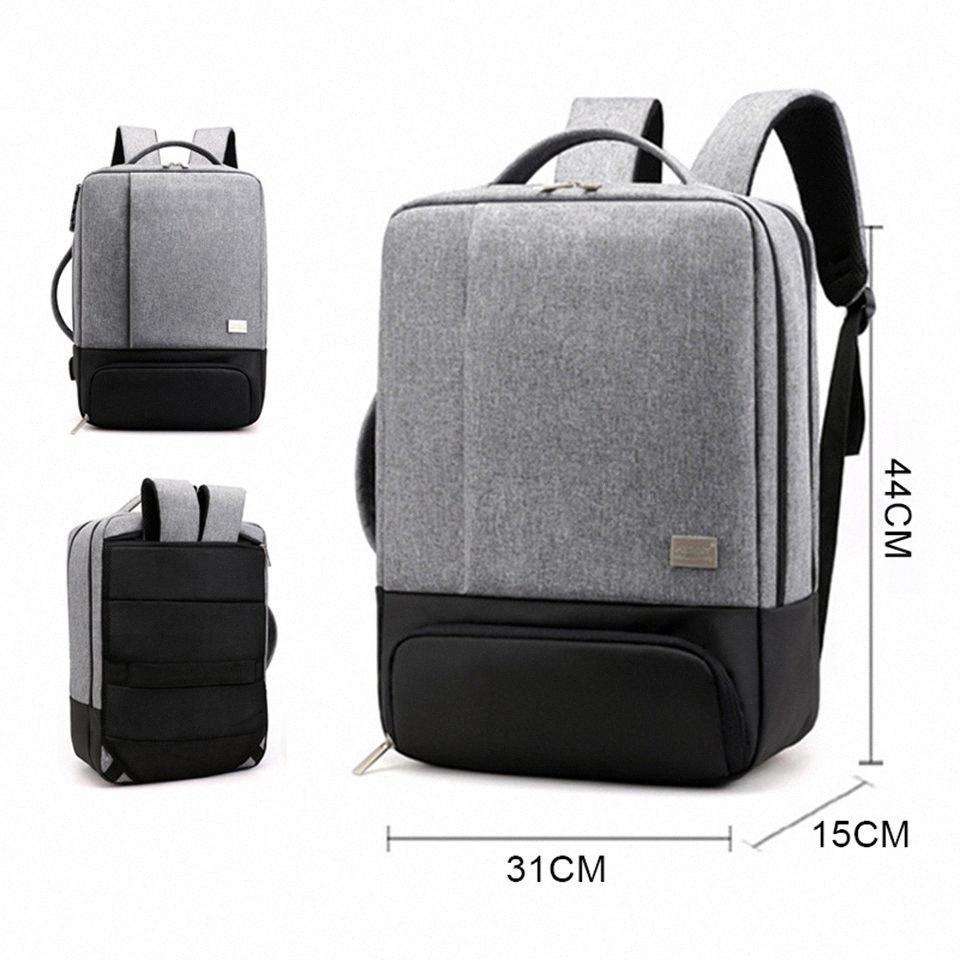 LOOZYKIT Mochila LaptopMens mochilas de 17 pulgadas 15,6 antirrobo masculino Cuaderno de viaje Back Pack Office mujeres viajan Bagpack 27BL #